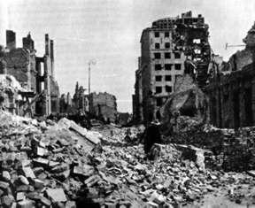 Warschau nach der deutschen Bombardierung