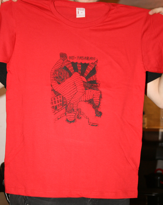 No pasarán Soli-T-Shirt Motiv Golem